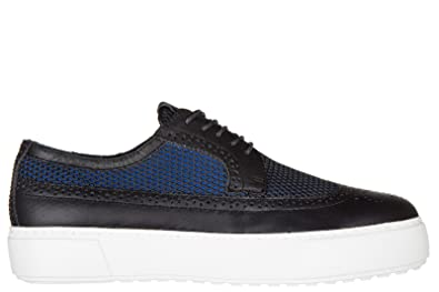 291db11ab439 Armani Jeans Men s Classic Leather lace up Laced Formal Shoes Derby blu UK  Size 8 935065