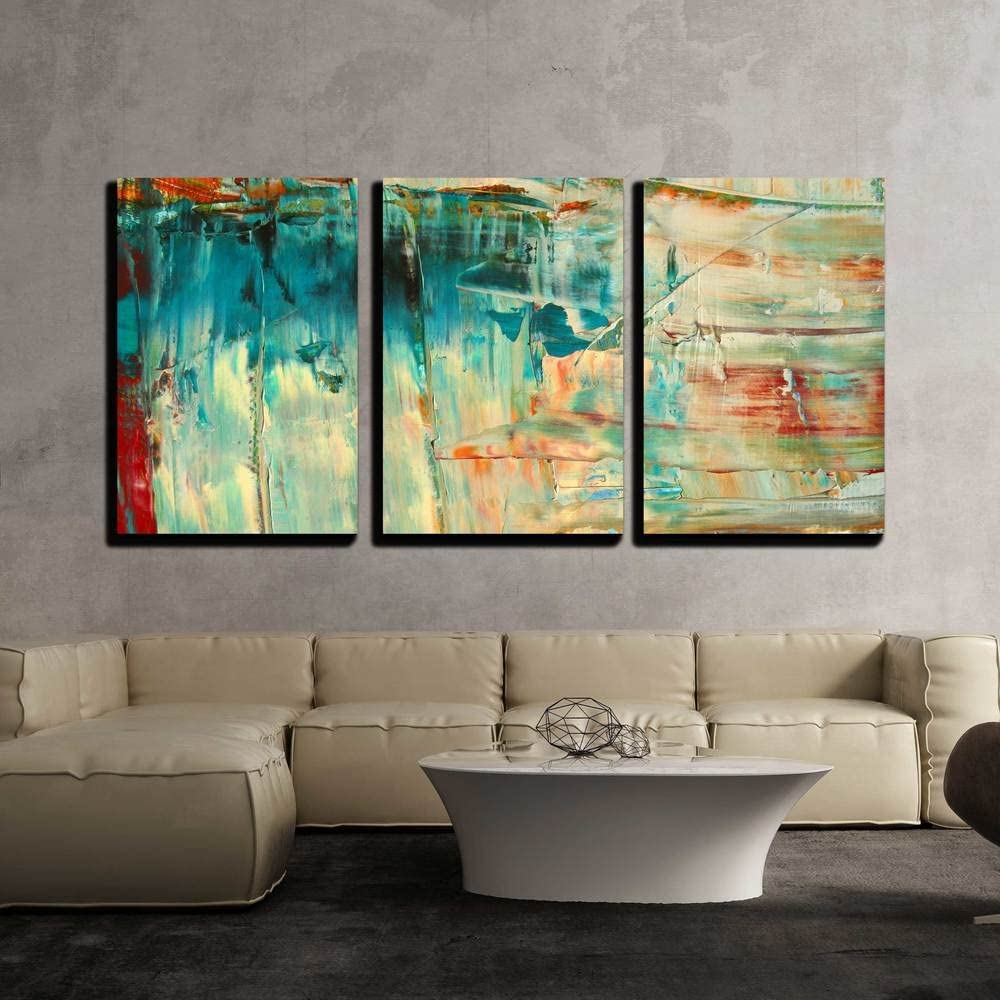 """wall26 - 3 Piece Canvas Wall Art - Abstract as Background - Modern Home Decor Stretched and Framed Ready to Hang - 16""""x24""""x3 Panels"""