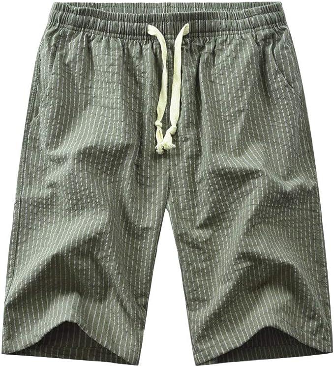 YEBIRAL Pantalones Cortos Hombre, Verano Playa con cordón Color ...