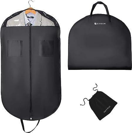 Zireem Kleidersack inkl. kostenlosem Schuhbeutel   Premium Stabil Anzugtasche   Kleiderhülle für Anzug und Kleid   Atmungsaktiv   hochwertiger