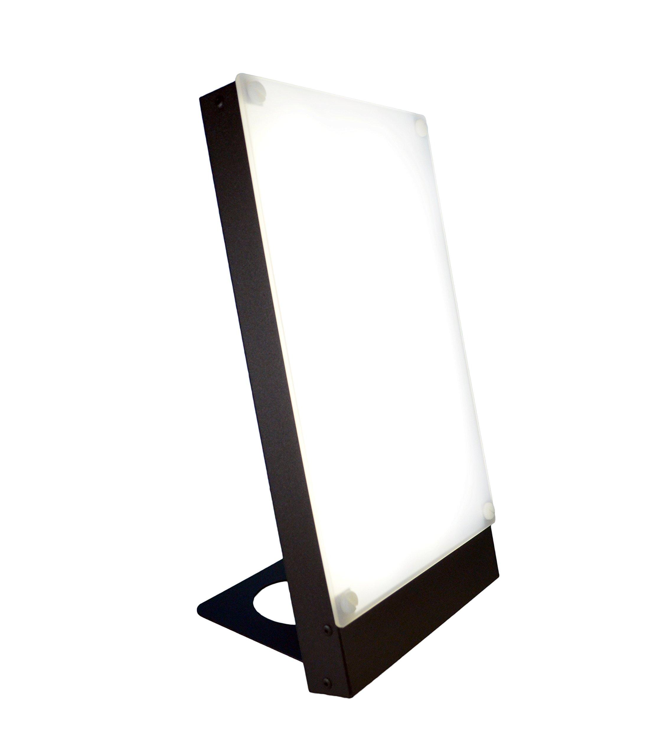 Travelite 10,000 Lux Bright Therapy Portable Desk Lamp, Black