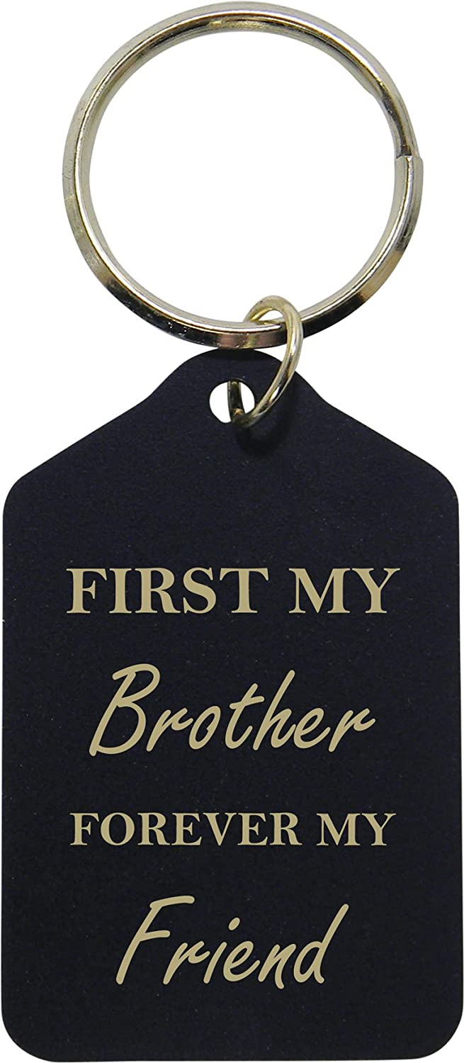 or Christmas World/'s Best Brother Leather Key Chain Great Gift for Birthday