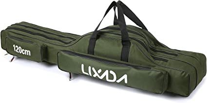 Portable Oxford Fishing Bag Fishing Rod Case Storage Carrier Tackle Bag Case