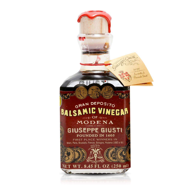 Giuseppe Giusti Gran Deposito Aceto Balsamico Di Modena Aged Artisan Italian Balsamic Wine Vinegar, 8.45 Fl Oz (Pack of 1)