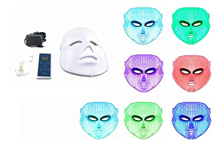 Beautystar 7 colores luz Photon LED eléctrica máscara facial piel PDT piel salón de belleza terapia