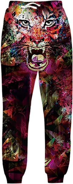 Galaxy Animal Anime 3D Print Men Women Long Pants Sports Jogger Baggy Sweatpants