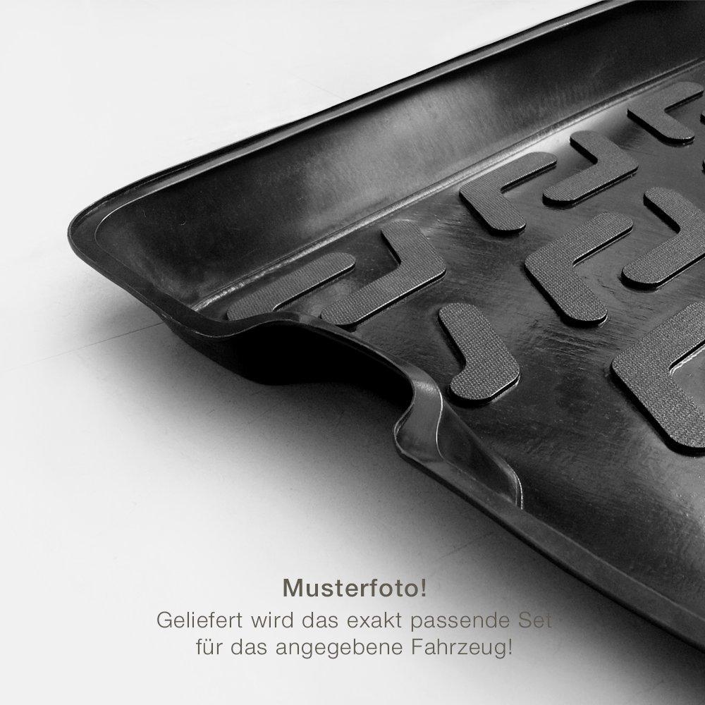 Gummifussmatten /& Kofferraumwanne Set passend f/ür Seat Ibiza 4 6J ab 2008 Autoteppich Stylers Fahrzeug w/ählbar
