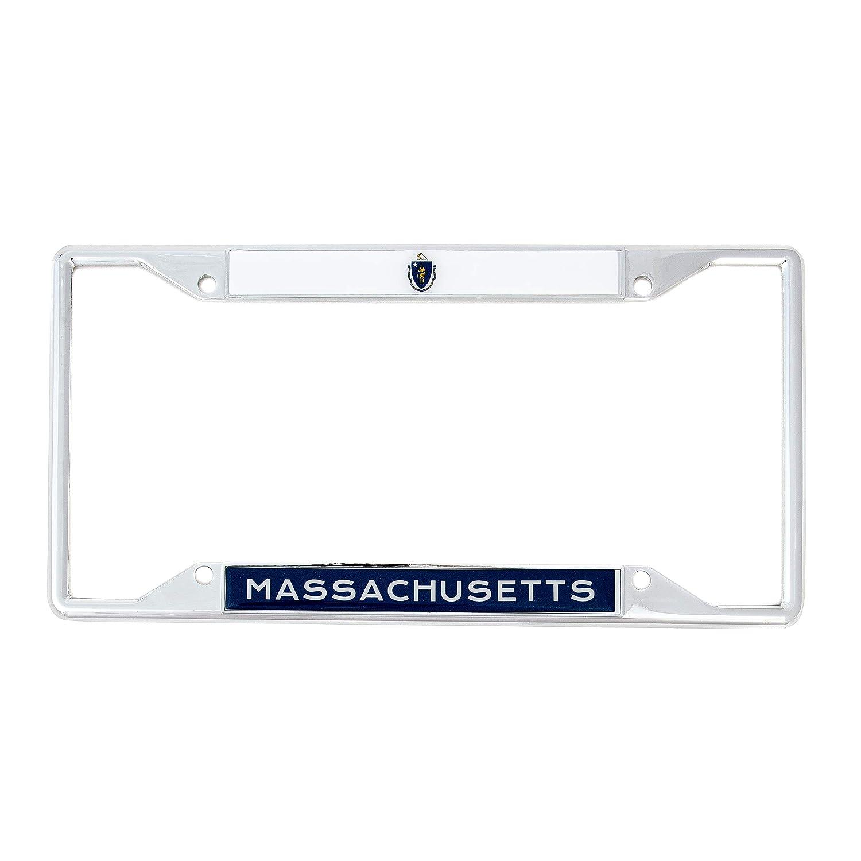 Desert Cactus State of Massachusetts Flag License Plate Frame for Front Back of Car Vehicle Truck