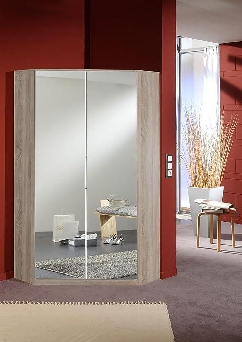 Wimex Eck-Kleiderschrank mit Spiegel, 95x95 cm, 2 Türen ...