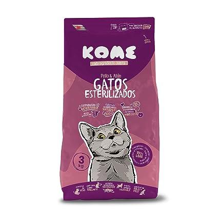 KOME Pienso Natural para Gatos esterilizados con Pollo y Atún