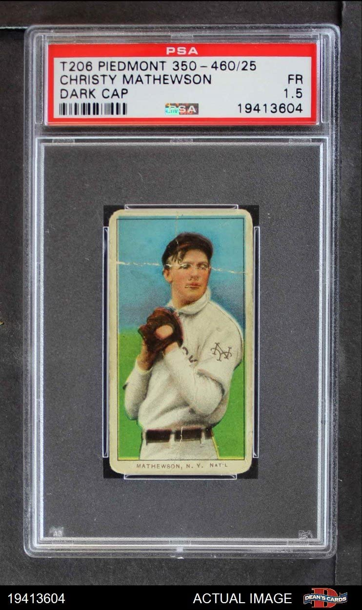 1909 T206 BLK Christy Mathewson New York Giants (Baseball Card) (Wearing a Dark Cap) PSA 1.5 - FAIR Giants 71Zzpxoh94LSL1250_