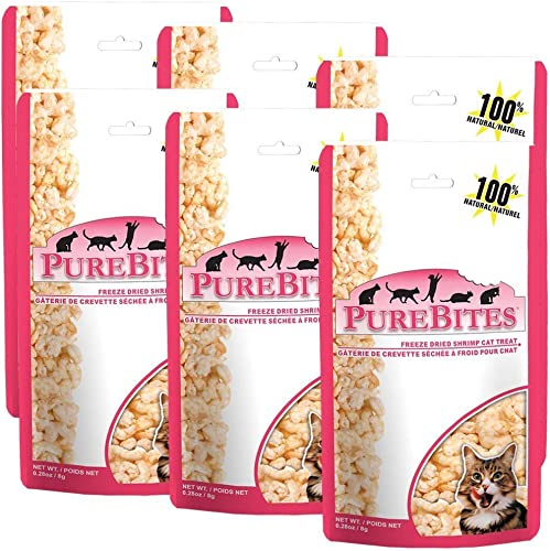 PureBites Shrimp FreezeDried Treats for Cats 6Pack 1.68 oz