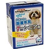 ドギーマン わんちゃんの国産牛乳 7歳からのシニア用 200ml×24個入り 【ケース販売】