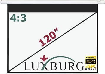 Luxburg Full HD 3D - Pantalla de proyección motorizada con Mando a ...