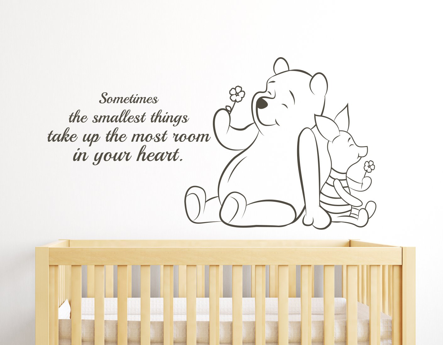 Sometimes the Smallest Things Take up the Most Room in Your Heart Winnie the Pooh Quote Nursery Wall Decals Wall Decor