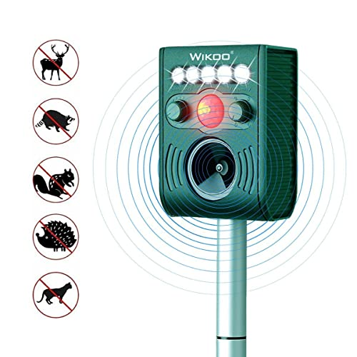 Wikoo Ultrasonic Solar Animal & Pest Repeller