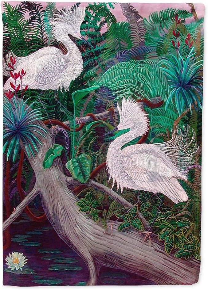 Caroline's Treasures 7142CHF Bird - Egret Flag Canvas House Size, Large, Multicolor