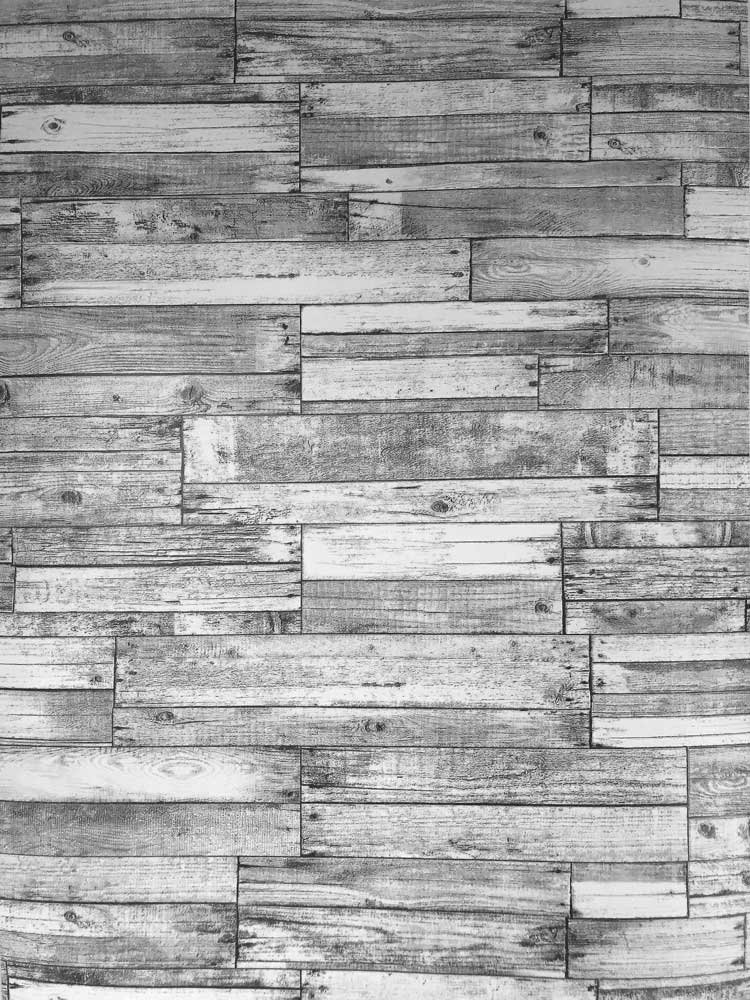 Slavyanski Vinyl Wallpaper Gray Black Old Vintage Retro Faux Rust Rustic barn Distressed Wood Textured Pattern Double roll wallcoverings Wall Paper coverings Decal Decor Textures 3D Washable Modern