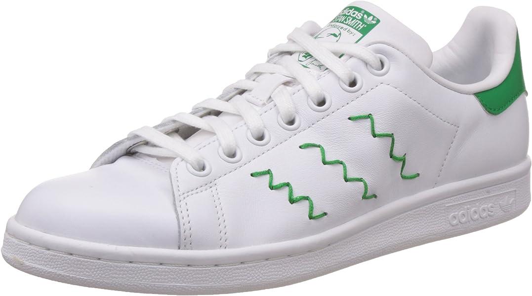 low priced 5544b 3c04b adidas Stan Smith, Baskets Basses Femme, Blanc-Weiß FTWR White Green,
