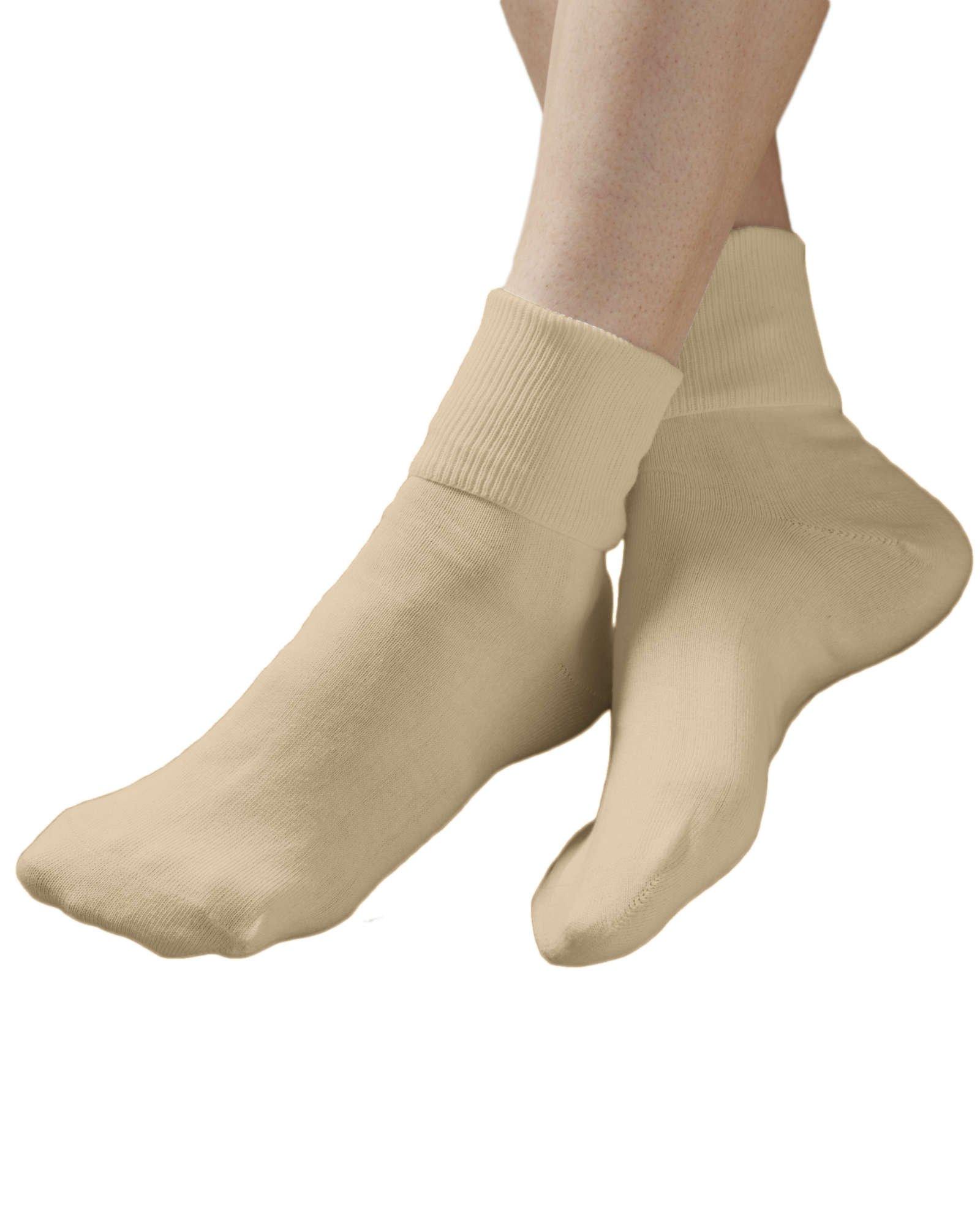 Buster Brown 100% Cotton Socks, Khaki, 11, 6-pk