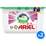 Ariel 3in1 PODS, Washing liquid capsules, Touch of Freshness Downy, 15 counts, Dual Pack