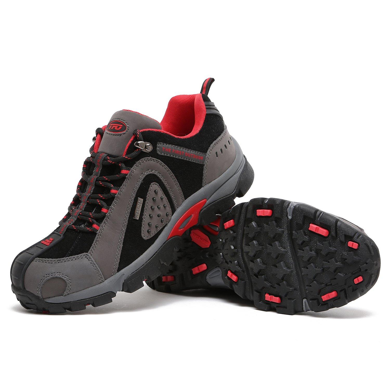 TFO Trekking Schuhe im Herren/Damen WasserabWeißende und Atmungsaktive Wanderschuhe mit Anti-Rutsch-Sohle (Hersteller-Größentabelle im Schuhe Produktbild Beachten) Dunkel/Schwarz 6ee539