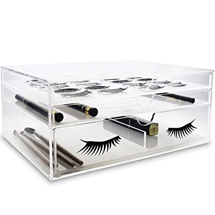 0b25902a4de Ikee Design Acrylic False Eye Lashes Extensions Holder Makeup Storage  Drawer Makeup Brush Holder Stand Home