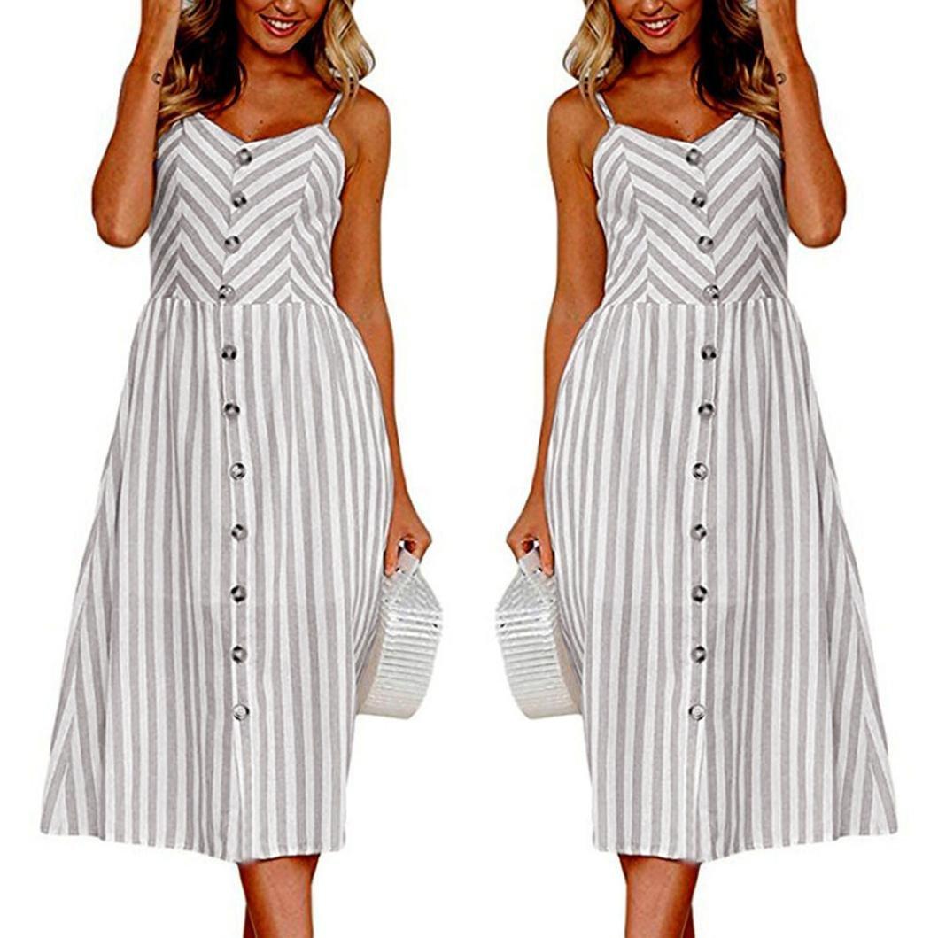 SANFASHION Bekleidung - Vestido - para Mujer Gris XXXL: Amazon.es: Ropa y accesorios