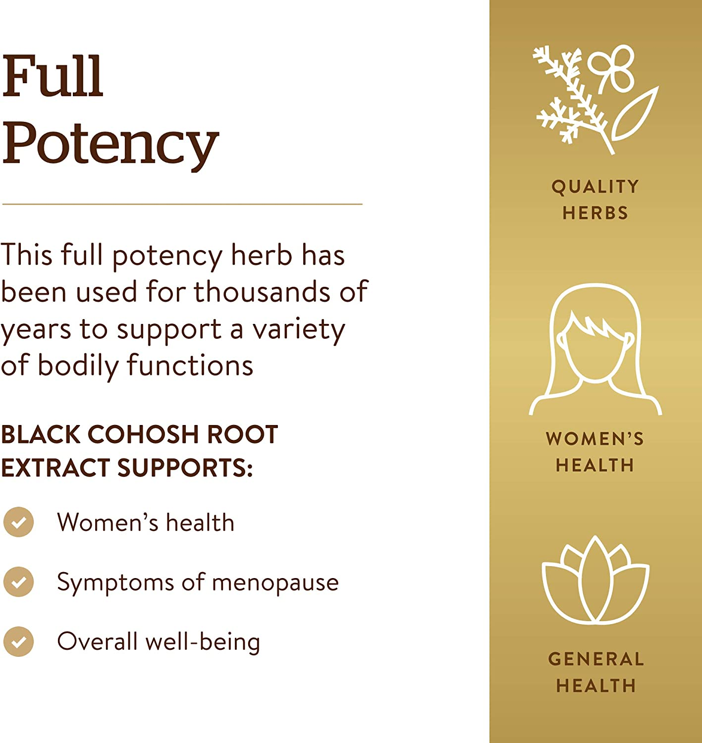 Solgar Standardized Full Potency Black Cohosh Root Extract Vegetable Capsules, 60 Count: Health & Personal Care