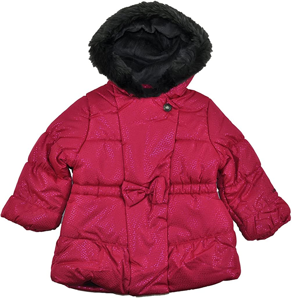 London Fog Baby Girls Pink Sparkle Outerwear Coat