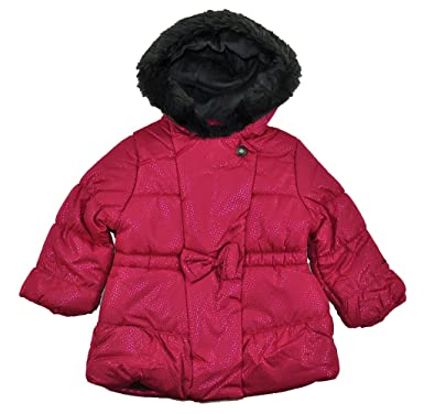 d9341e733ee4 Amazon.com  London Fog Baby Girls Pink Sparkle Outerwear Coat  Clothing