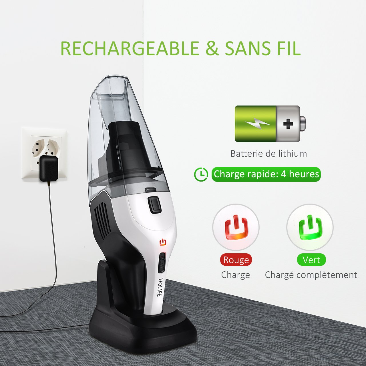 Main Aspirateur À Sans Cyclonique Holife Vacuum 6kpa Cleaner Fil cTl1FJK