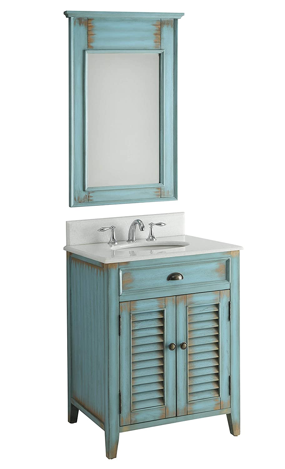 26 Cottage look Abbeville Bathroom Sink Vanity with Mirror CF-28883-MR28883
