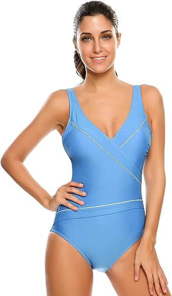 Ekouaer Womens One Piece Swimsuits for Women Athletic Training Swimsuits Swimwear Bathing Suits