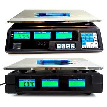 Balanza digital profesional electrónica a partir de 5 g a 40 kg: Amazon.es: Electrónica