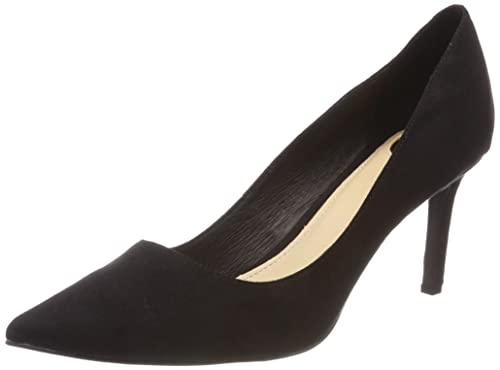 Womens H733-c002a-4 P1751a IMI Suede Closed-Toe Pumps, Black 01 001 Buffalo