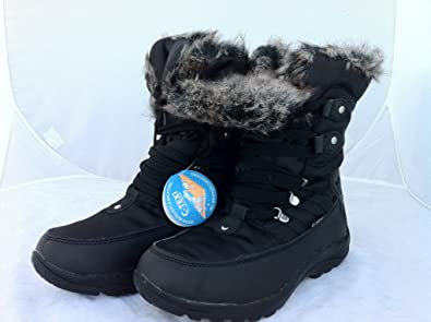 Women's Skills 100% Waterproof Winter Snow Walking Boots Lace ...