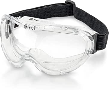 Neiko 53875B Protective Anti-Fog Safety Goggles with Wide-Vision, ANSI Z87.1 Approved Adjustable & Lightweight