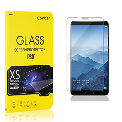 Conber (1 Pack) Screen Protector for Huawei Mate 10, [Scratch-Resistant][Anti-Shatter][Case Friendly] Premium Tempered Glass Screen Protector for Huawei Mate 10: Baby