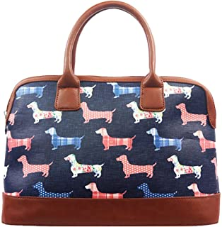 CASECOCO Colorful Dachshund Puppy Womens PU Leather Purse Handbags Shoulder Bag