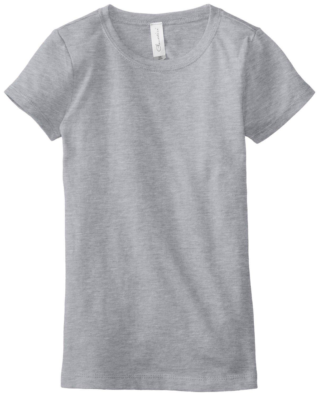 Clementine Big Girls' Everyday T-Shirt, Heather Grey, X-Large(14-16)
