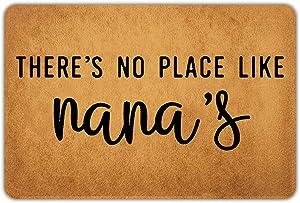 """Joelmat There's No Place Like Nana's Entrance Non-Slip Outdoor/Indoor Rubber Door Mats for Front Door/Garden/Kitchen/Bedroom 23.6""""x15.7"""""""