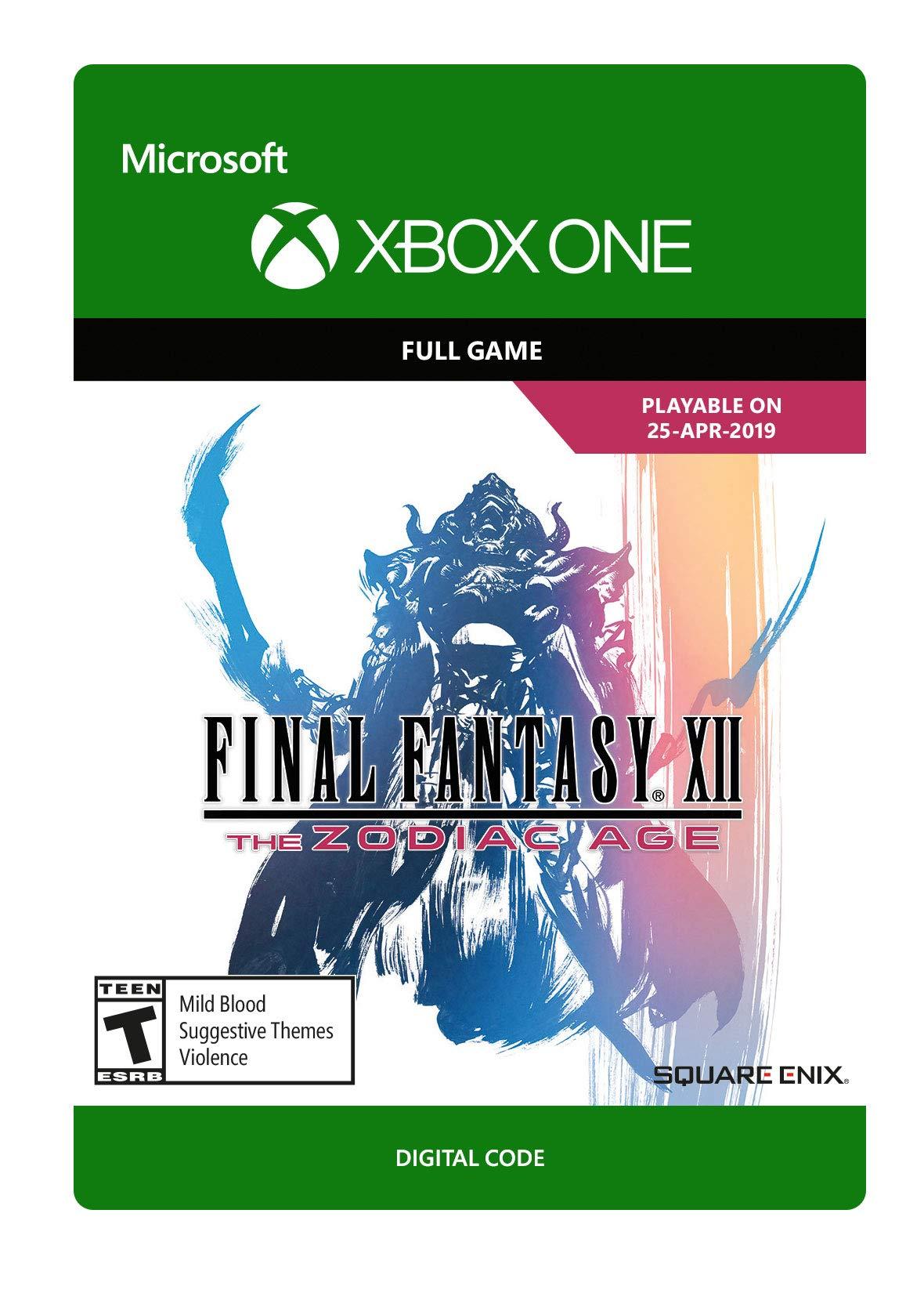 Amazon com: FINAL FANTASY XII THE ZODIAC AGE - Xbox One [Digital