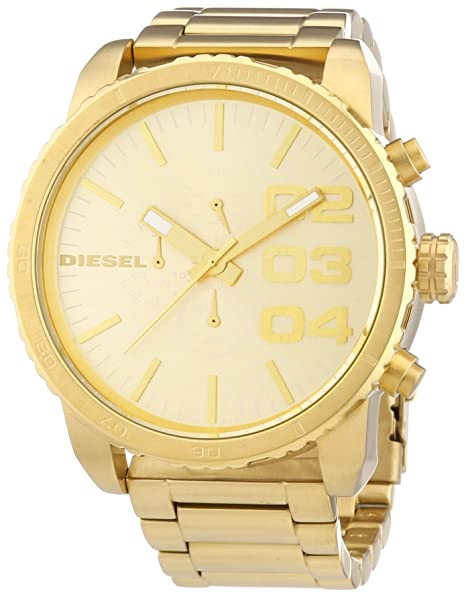 Diesel DZ4268 - Reloj cronógrafo de Cuarzo para Hombre con Correa de Acero Inoxidable bañado, Color Dorado
