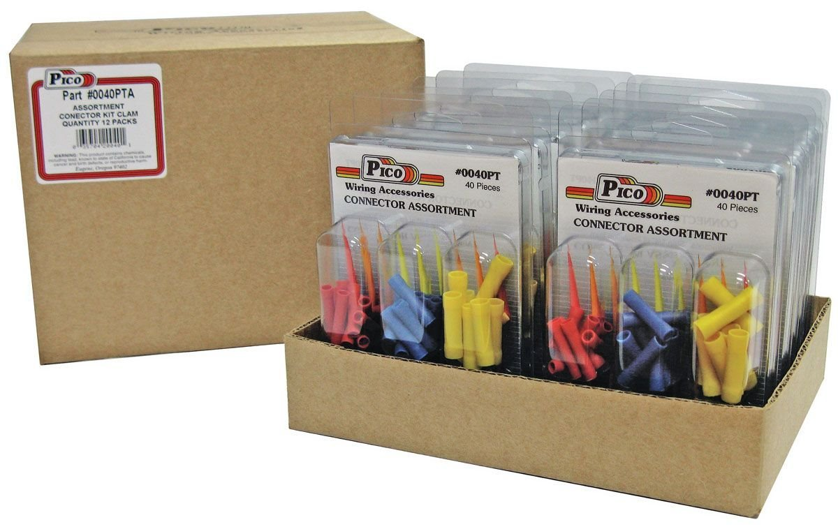 12 Pack Pico 0050PT 25 Piece Crimp & Heat Shrink Butt Connector and Assorted Ring Terminal Kit (22-16, 16-14 & 12-10 AWG) by Pico (Image #1)