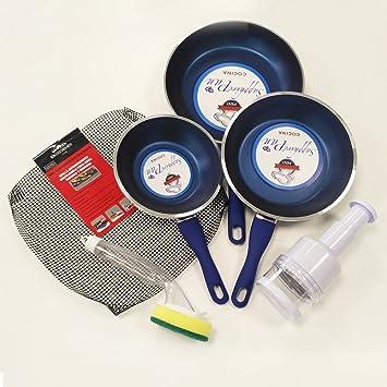 SET DE 3 SARTENES PROFESIONALES SAPPHIRE PAN + 3 ACCESORIOS DE REGALO: Amazon.es: Hogar