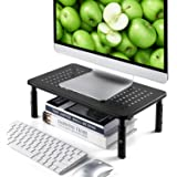 LORYERGO Monitor Riser Stand - 3 Height Adjustable Computer Stand, Laptop Stand Riser with Metal Vented Platform…