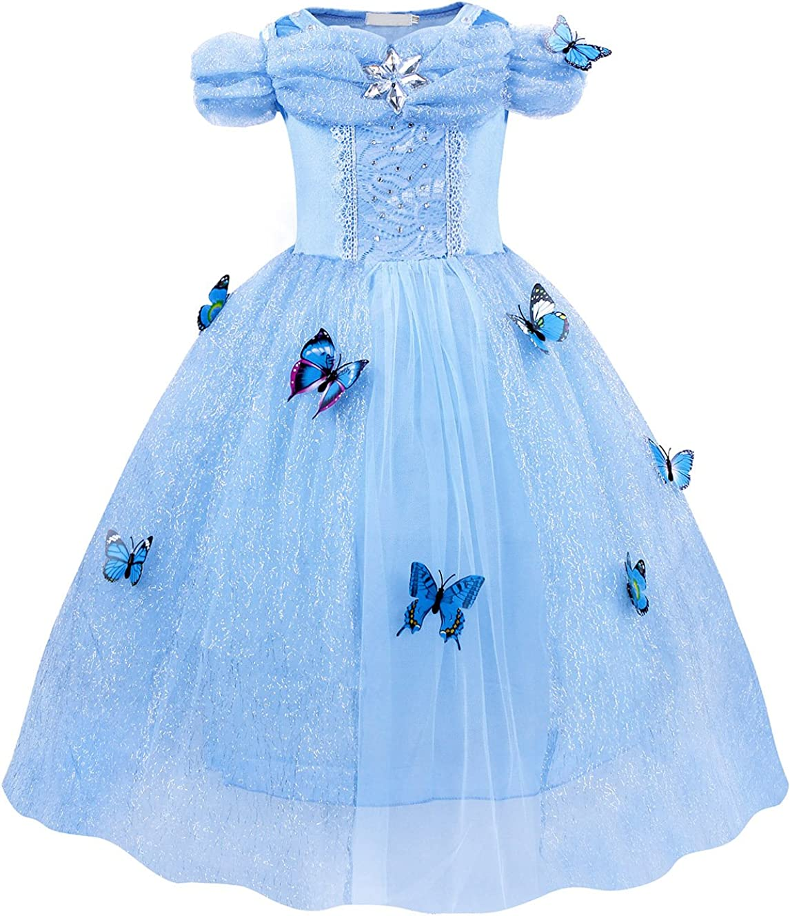 HenzWorld Cinderella Costume Dress Princess Girls Birthday Party Cosplay Outfit