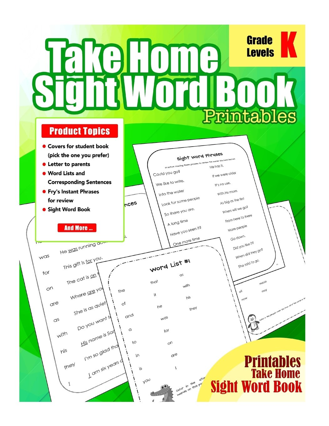 Take Home Sight Word Book Printables: Sight Word For Kindergarten ...
