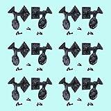 6 Pair Shutter Dog Black Wrought Iron Seashell Wood Mount | Renovator's Supply